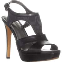 Coach Dita Ankle Trap Platform Pumps, Black/Black - 9 us