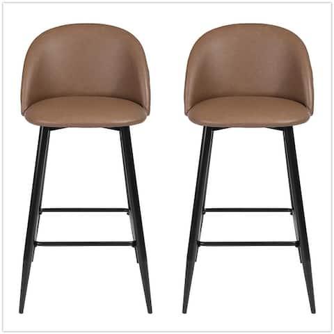 Furniture R Mid-Century Modern Counter Stools (Set of 2)