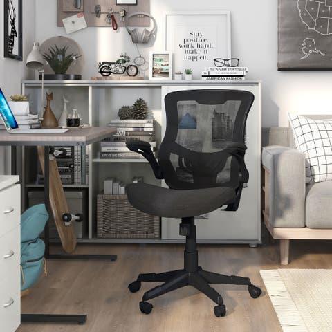 Furniture of America Kumar Black Ergonomic Office Chair