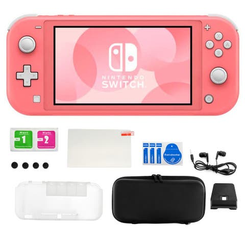 Nintendo Switch Lite in Coral with Accessory Kit