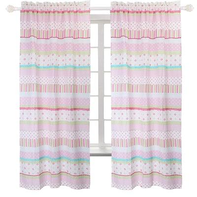 Taylor & Olive Sunfish Pastel Rod Pocket Curtain Panel Pair