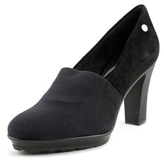 Calvin Klein Tana Women  Round Toe Suede Black Heels