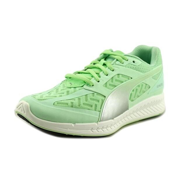 Puma Ignite Pwrcool Women Round Toe Canvas Green Running Shoe