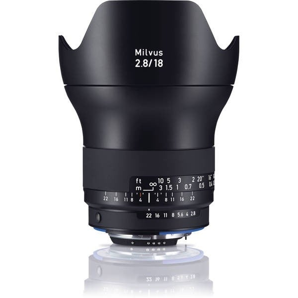 Zeiss Milvus 18mm f/2.8 ZF.2 Lens for Nikon F - black