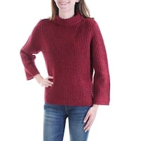 RACHEL ROY Womens Red Long Sleeve Turtle Neck Sweater  Size: S