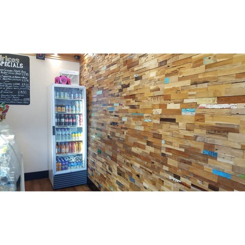 TEAK DECO S Wall Paneling, 100% reclaimed teak, 19.40 sq. feet per box, FREE shipping FSC, Carb2 compliant, LEED points