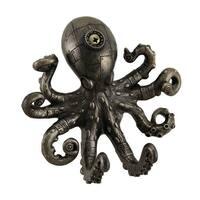 Antique Bronze Finish Steampunk Octopus Wall Hook