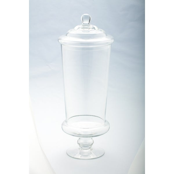 "19"" Clear Solid Glass Apothecary Jar with Lid - N/A"