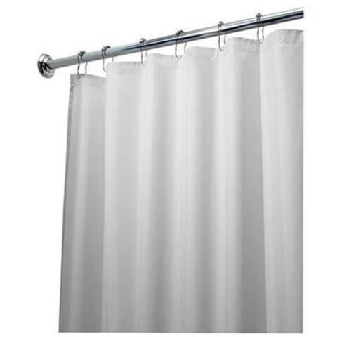 "Interdesign 14962 Fabric Shower Curtain Liner, 72"" x 84"", White"