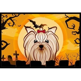 Carolines Treasures BB1762MAT Halloween Yorkie Yorkishire Terrier Indoor & Outdoor Mat 18 x 27 in.