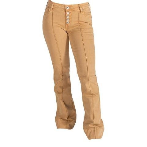 Cowgirl Tuff Western Jeans Womens Go For The Gold Trouser Gold