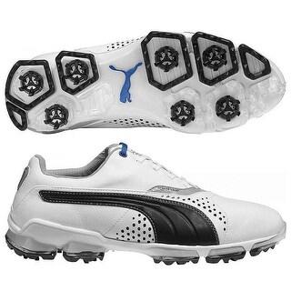 Puma Men's Titan Tour White/Black Golf Shoes 188056-06