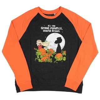 Peanuts Juniors It's The Great Pumpkin, Charlie Brown Raglan Pullover Sweatshirt