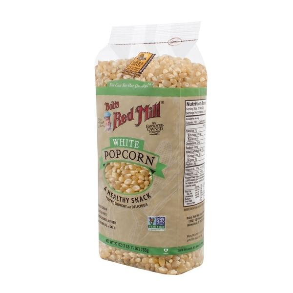 Bob's Red Mill Whole White Popcorn - 27 oz - Case of 4