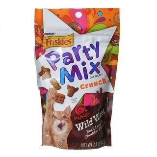 Friskies Party Mix Wild West Crunchy Cat Treats 2 oz