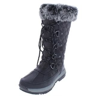 Bearpaw Womens Gwyneth Winter Boots Quilted Suede