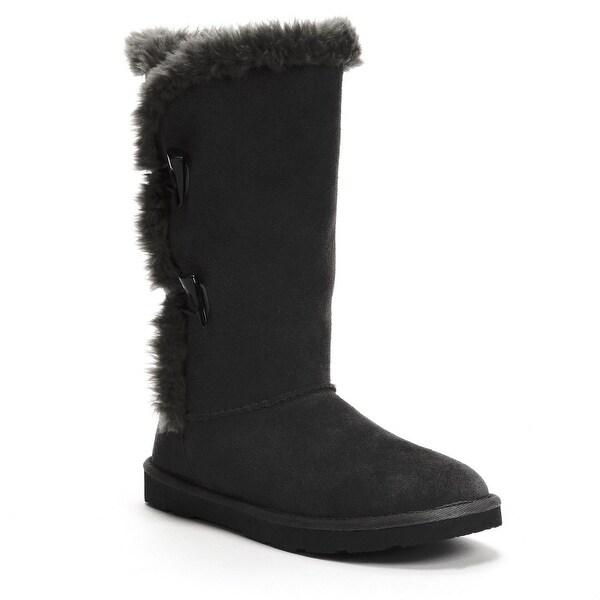 Sonoma Life+Style Belina Women Genuine Suede Boots - Black