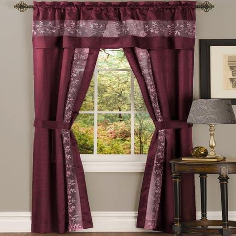 Copper Grove Watt 5-piece Window Curtain Set