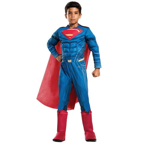 Rubies JL Deluxe Superman Child Costume - Blue/Red