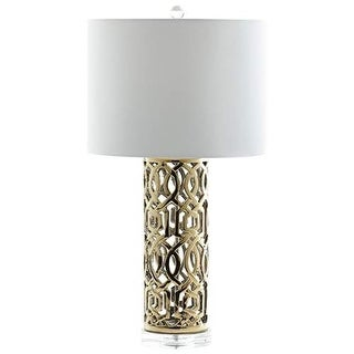 Cyan Design Empress Table Lamp Empress 1 Light Accent Table Lamp with White Shade - Gold