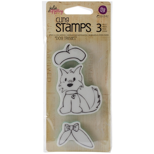"""Julie Nutting Mixed Media Cling Rubber Stamps-Dog Treats 2.7""""X5"""""""