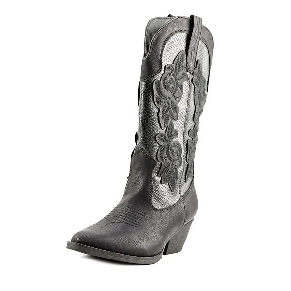 Rampage Vida Women Black Snake Over Western Boots