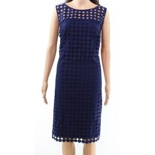 Lauren by Ralph Lauren NEW Blue Womens Size 22W Plus Sheath Dress