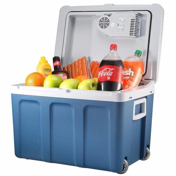 Knox Gear 48 Quart Electric Cooler/Warmer with Power Cords (Blue)