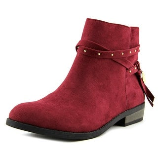 Jessica Simpson Hidalgo Youth Pointed Toe Suede Burgundy Bootie