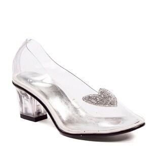 """Ariel Girls Clear 2"""" Heel Shoes"""