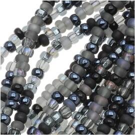 Czech Seed Beads 11/0 Mix Lot Witches Brew Black Iris