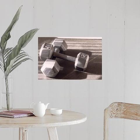 """Still life of dumbells, free weight"" Poster Print"