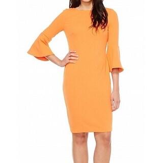 Orange Sheath Dresses