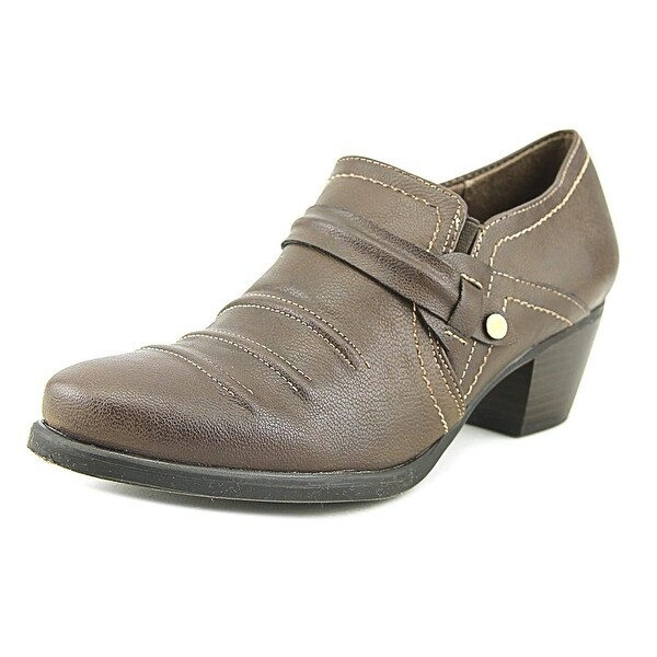 NaturalSoul by Naturalizer Kiza Women Round Toe Synthetic Brown Heels