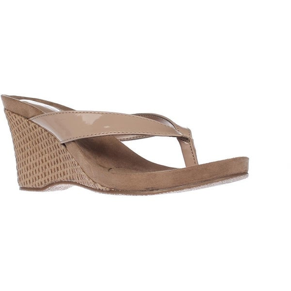SC35 Chick Wedge Flip Flops, Nude