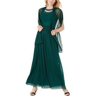Jessica Howard Womens Evening Dress Sleeveless Formal - Hunter