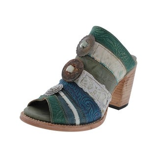 Freebird by Steven Womens Buda Mules Embellished Patchwork
