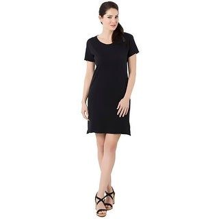 Alternative Apparel Womens Legacy T-Shirt Dress Crew Neck Short Sleeves