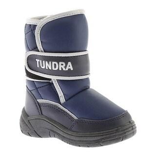 Tundra Boys' Snow Boot Navy
