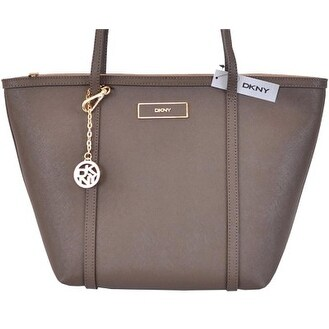 Shop DKNY DONNA KARAN KHAKI SAFFIANO LEATHER ZIP TOP N S PURSE TOTE HANDBAG  - On Sale - Free Shipping Today - Overstock - 12350372 50382253d87a6