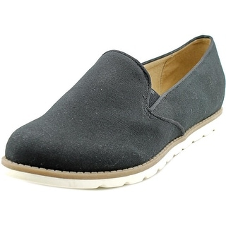 Naturalizer Ideally Women W Round Toe Canvas Black Loafer
