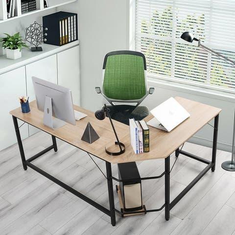 TiramisuBest Home Office L-Shaped Corner Desk Computer Desk