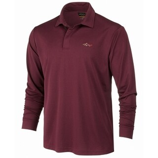 Greg Norman Purple Mens Size XL Long Sleeve Polo Rugby Shirts
