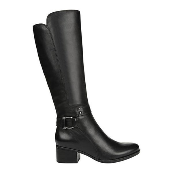 Dane Knee High Boot Black Leather
