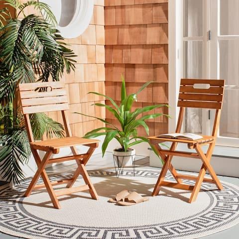 "Safavieh Outdoor Living Blison Folding Chairs - 15.8""x20.9""x34.3"""