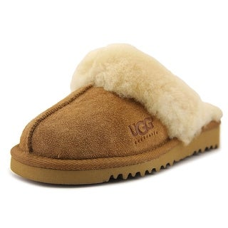 Ugg Australia Cozy Youth Round Toe Suede Tan Slipper