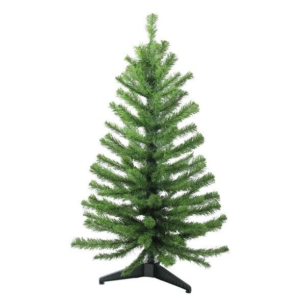 3' Two-Tone Balsam Fir Artificial Christmas Tree - Unlit - green