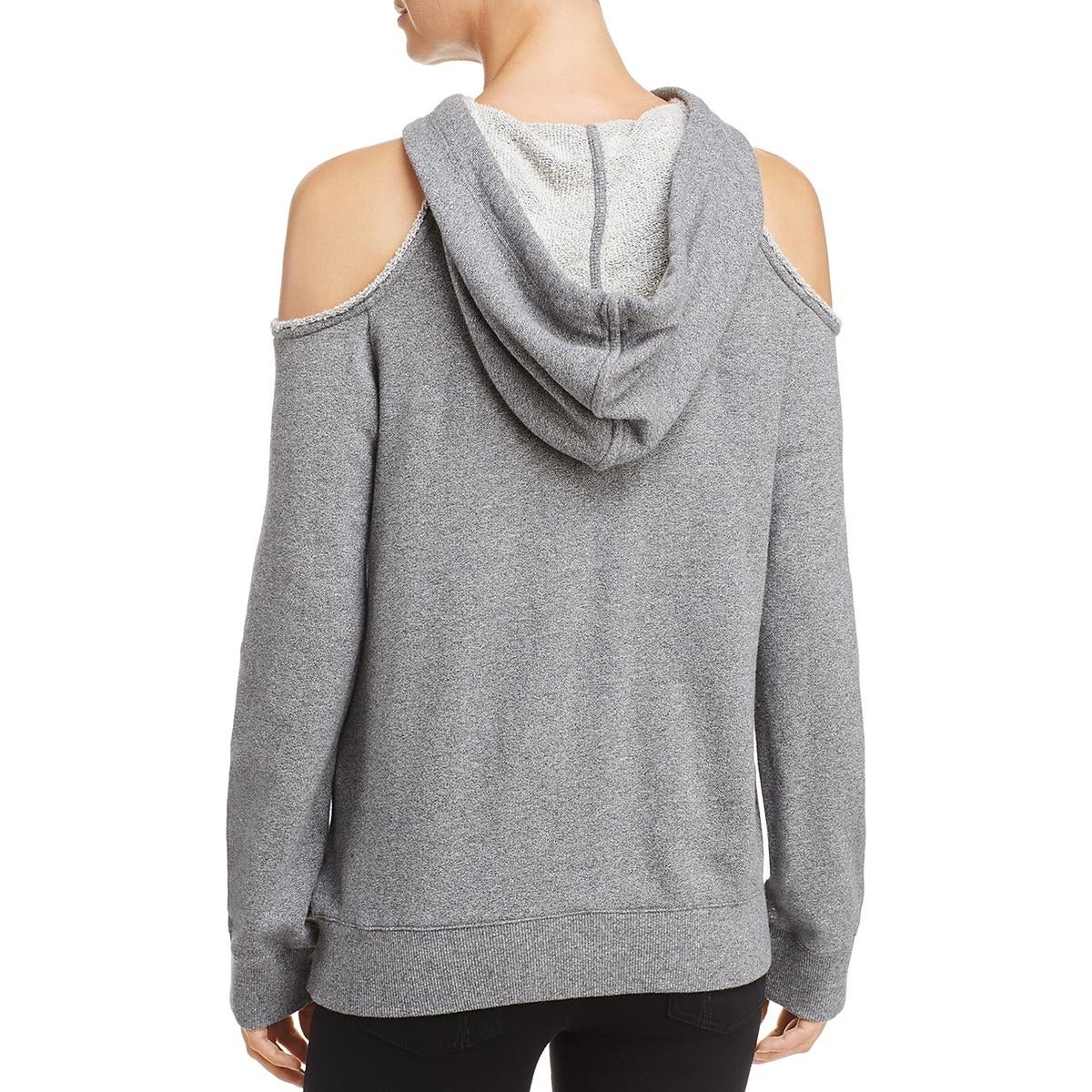 a7eb7726a8c5d Shop Splendid Womens Hoodie Cold Shoulder Sweatshirt - XS - Free Shipping  On Orders Over  45 - Overstock - 25715780