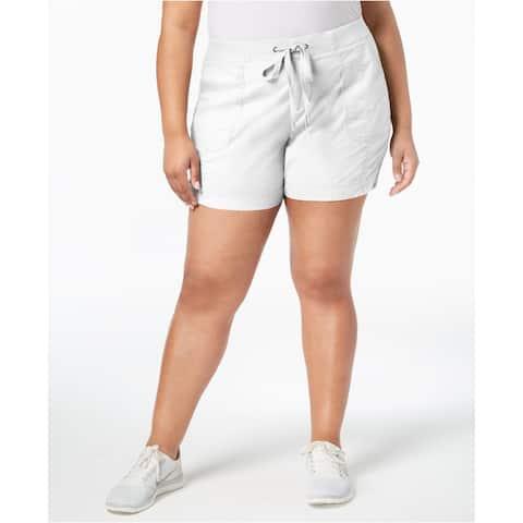 Style & Co Women's Comfort-Waist Shorts Bright White Size 14