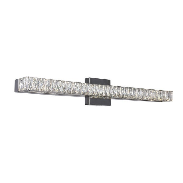 Silver Orchid Brennan LED-light Wall Sconce with Chrome Finish. Opens flyout.